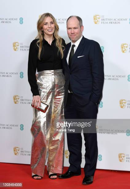 Rachael Tate and Oliver Tarney attend the EE British Academy Film Awards 2020 Nominees' Party at Kensington Palace on February 01 2020 in London...