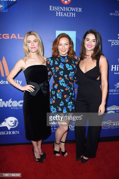 Rachael Taylor Alison McGirr and Celia Massingham attend the Closing Night Screening of 'Ladies In Black' at the 30th Annual Palm Springs...