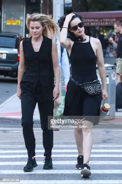 Rachael Taylor and Krysten Ritter are seen on July 09 2018 in New York City