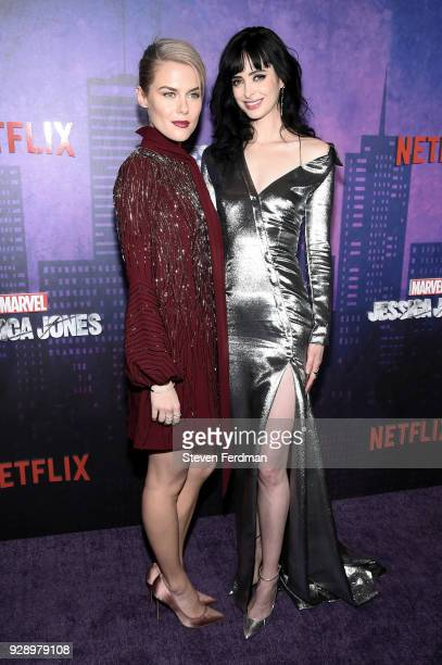Rachael Taylor and Krysten Ritter attend 'Jessica Jones' Season 2 New York Premiere at AMC Loews Lincoln Square on March 7 2018 in New York City