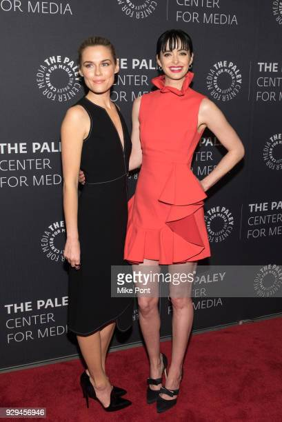 Rachael Taylor and Krysten Ritter attend The Paley Center for Media presents An Evening with Marvel's 'Jessica Jones' at The Paley Center for Media...