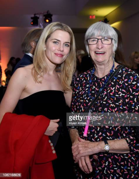 Rachael Taylor and Sue Milliken attend the Closing Night Reception at the 30th Annual Palm Springs International Film Festival on January 13 2019 in...