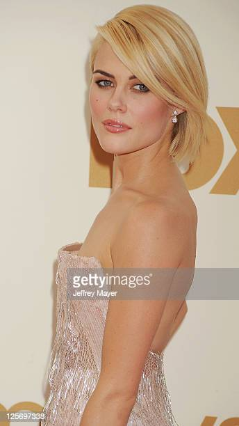 Rachael Taylor arrives at the 63rd Primetime Emmy Awards at the Nokia Theatre LA Live on September 18 2011 in Los Angeles California