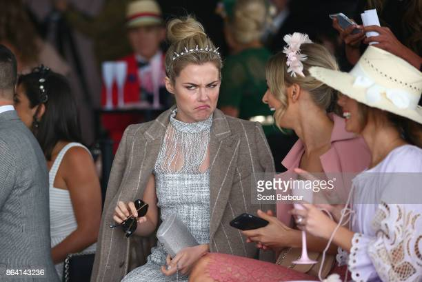 Rachael Taylor attends the David Jones Marquee on Caulfield Cup Day at Caulfield Racecourse on October 21 2017 in Melbourne Australia