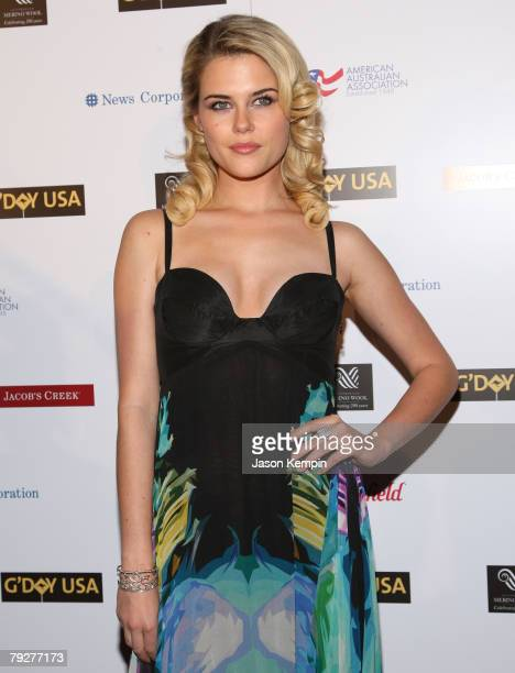 Rachael Taylor attends the G'Day USA Australia Week 2008 Australia Day Black Tie Gala at the Waldorf Astoria on January 26 2008 in New York City