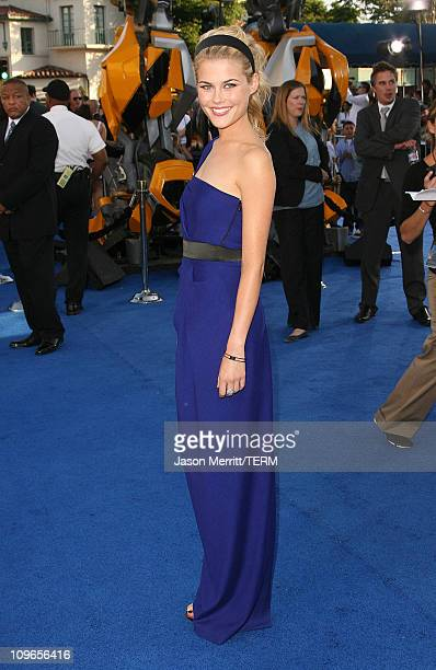 """Rachael Taylor during """"Transformers"""" Los Angeles Premiere - Arrivals at Mann Village Theater in Westwood, California, United States."""
