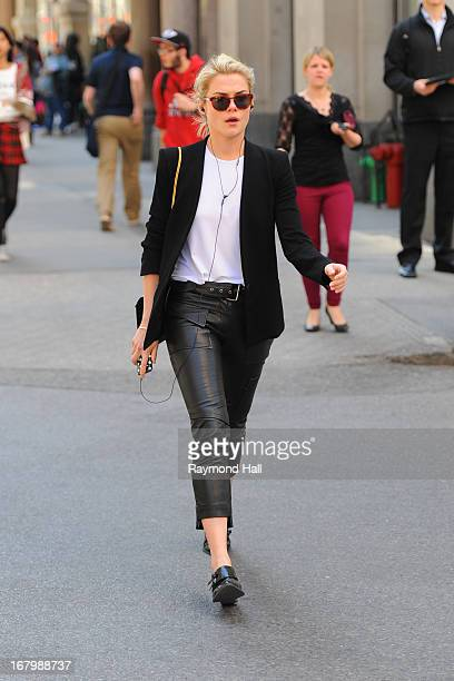 Rachael Taylor is seen in the West Village on May 3 2013 in New York City