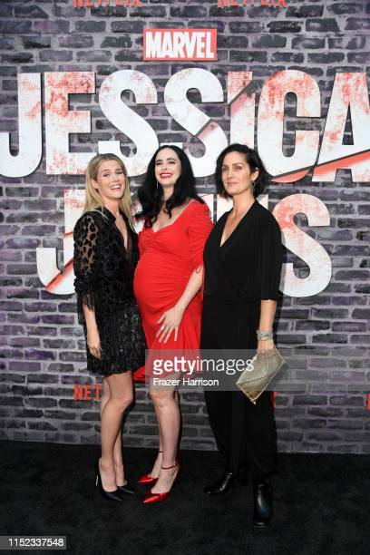 Rachael Taylor Krysten Ritter and CarrieAnne Moss attend a Special Screening Of Netflix's Jessica Jones Season 3 at ArcLight Hollywood on May 28 2019...