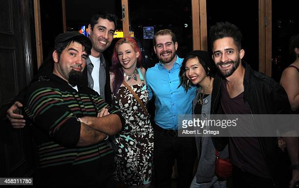 Rachael Wagner and guests attend the Season Finale For SyFy Channel's 'Faceoff' Season 7 Viewing Party held at The Parlor on October 28 2014 in West...