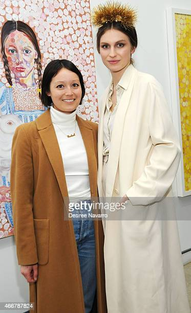 Rachael Wang and artist Tali Lennox attend Tali Lennox Exhibition Opening Reception at Catherine Ahnell Gallery on March 18, 2015 in New York City.