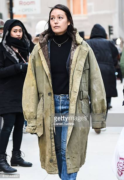 Rachael Wang is seen outside the Alexander Wang show during New York Fashion Week Women's Fall/Winter 2016 on February 13 2016 in New York City