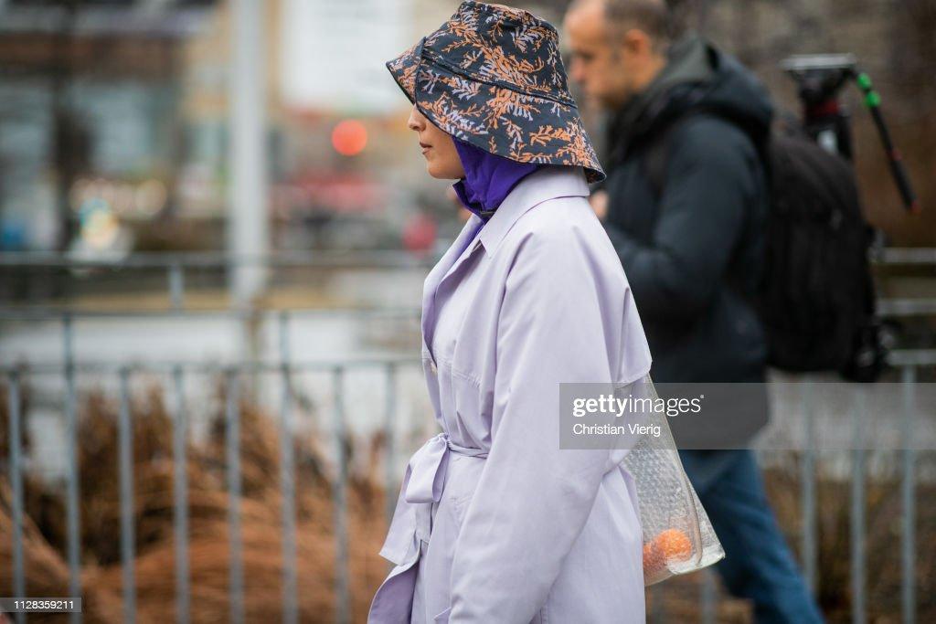 5cdf9079bcf Street Style - New York Fashion Week February 2019 - Day 2   News Photo