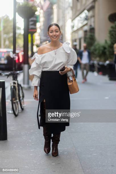 Rachael Wang seen in the streets of Manhattan outside Victoria Beckham during New York Fashion Week on September 10 2017 in New York City