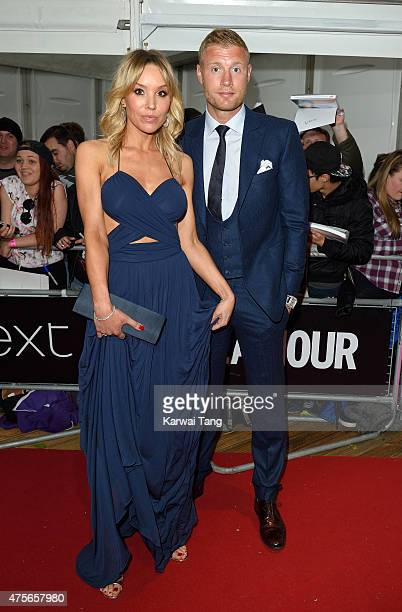 Rachael Wools Flintoff and Andrew Flintoff attend the Glamour Women of the Year Awards at Berkeley Square Gardens on June 2, 2015 in London, England.