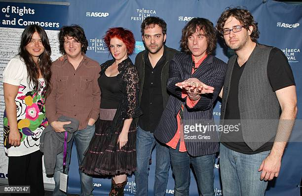Rachael Yamagata Matt Slocum and Leigh Nash of Sixpence None the Richer and Adam Schlesinger and Jody Porter of Fountains of Wayne pose at the...
