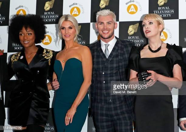 Rachel Adedeji, Sarah-Jayne Duckworth, Kieron Richardson and Lysette Anthony attend The Royal Television Society Programme Awards at The Grosvenor...