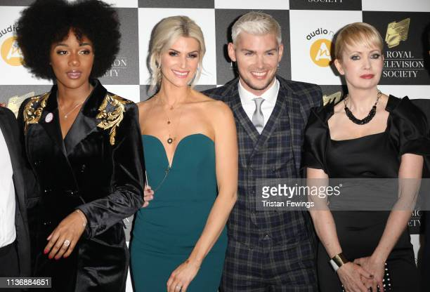 Rachel Adedeji, Sarah-Jayne Duckworth, Kieron Richardson, and Lysette Anthony attend the Royal Television Society Programme Awards at Grosvenor House...