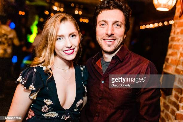 Rachel Amanda Bryant and Skyler Caleb attend Hilary Barraford's Birthday Party held at Madame Siam on April 26 2019 in Los Angeles California