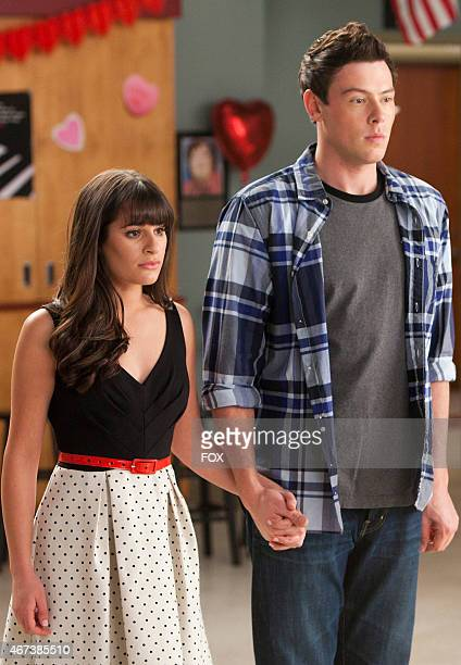 Rachel and Finn announce their engagement to the class in the Heart episode of GLEE airing Tuesday Feb 14 on FOX
