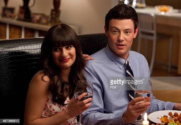 Rachel and Finn have dinner with her dads in the Heart episode of GLEE airing Tuesday Feb 14 on FOX