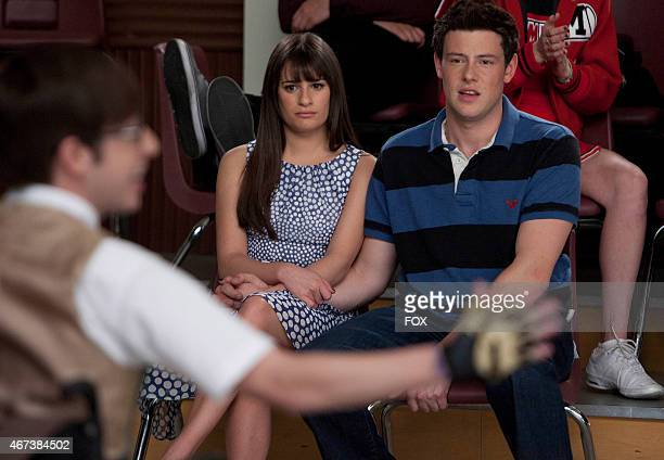 Rachel and Finn watch Artie perform in Big Brother the Spring Premiere episode of GLEE airing Tuesday April 10 on FOX