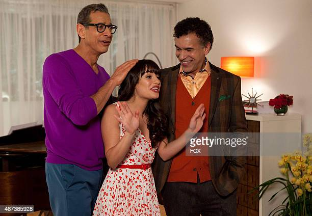 Rachel and her dads Hiram and Leroy perform during a dinner party in the Heart episode of GLEE airing Tuesday Feb 14 on FOX