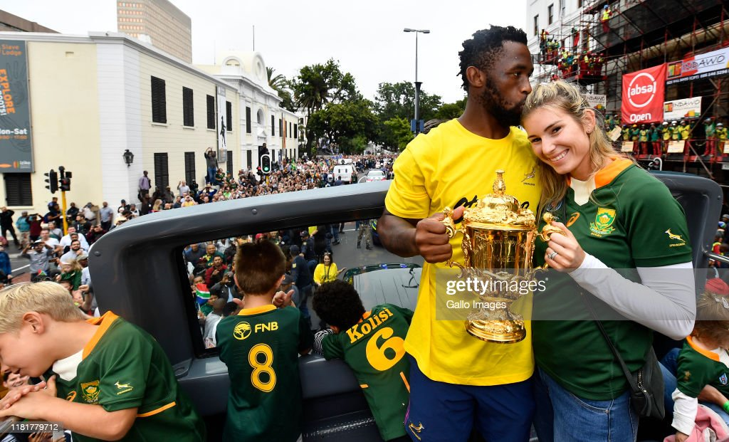 South Africa Rugby World Cup Victory Tour : News Photo