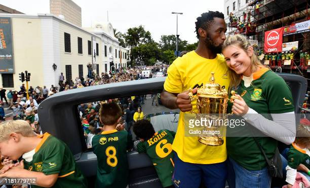 Rachel and Siya Kolisi during the South African Springboks Rugby World Cup 2019 Champions Tour on November 11, 2019 in Cape Town, South Africa.