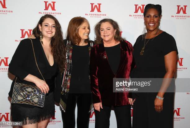 Rachel Ann Weiss Founding Mother Ms Foundation Gloria Steinem Kathleen Turner and President CEO of Ms Foundation Teresa C Younger attend the Ms...