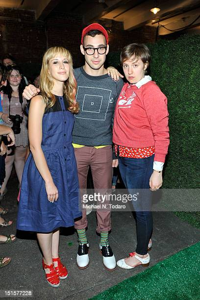 Rachel Antonoff, Jack Antonoff and Lena Dunham attend the Rachel Antonoff presentation during Spring 2013 Mercedes-Benz Fashion Week at Drive In...