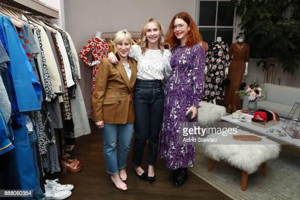 Rachel Antonoff Rebecca Taylor and Christene Barberich pose for photos during 'Vintage For A Cause' benefitting She Should Run held at Rebecca Taylor...