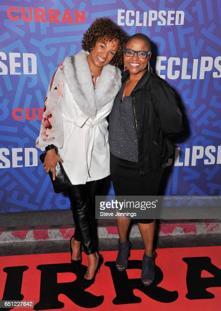 Rachel Ball and Tonia Holland attend the celebration of Women's History Month on it's Opening Night of Eclipsed at the Curran Theater on March 9 2017...