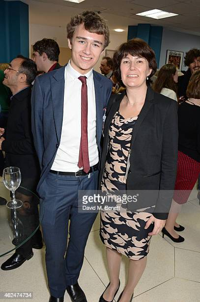 Rachel Barnes neice of Alan Turing and son Tom Barnes attend a special screening of The Imitation Game hosted by American Ambassador Matthew Barzun...