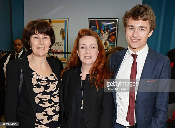 Rachel Barnes neice of Alan Turing costume designer Sammy Sheldon Differ and Tom Barnes and attends a special screening of The Imitation Game hosted...