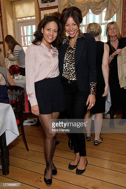 Rachel Barrett and Ana Araujo attend the Roger Vivier Luncheon at Harry's Bar on March 31 2011 in London England