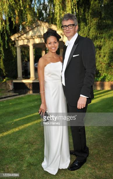Rachel Barrett and Jay Jopling attend The 12th Annual White Tie and Tiara Ball to Benefit Elton John AIDS Foundation in Association with Chopard at...
