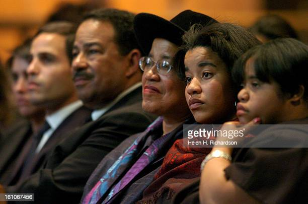 Rachel Bassette Noel's family was in attendance From right to left are Halisi NoelJohnson <cq> and Sloane NoelJohnson granddaughters of Noel and...