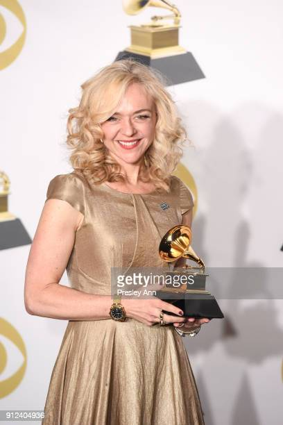 Rachel Bay Jones attends 60th Annual GRAMMY Awards - Press Room at Madison Square Garden on January 28, 2018 in New York City.