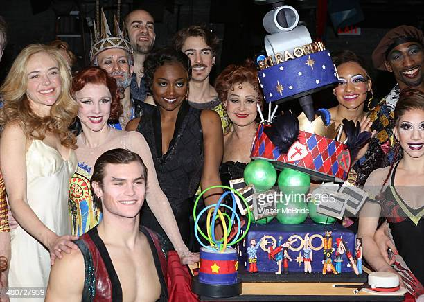 Rachel Bay Jones Charlotte D'Amboise Orion Griffiths Patina Miller Erik Altemus Annie Potts and Anthony Wayne with the cast and creative team of...