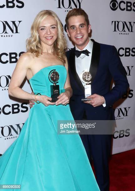 Rachel Bay Jones winner of the award for Featured Actress in a Musical for Dear Evan Handler and Ben Platt winner of the award for Best Actor in a...