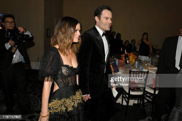 Rachel Bilson and Bill Hader attend the 77th Annual Golden Globe Awards Cocktail Reception at The Beverly Hilton Hotel on January 05 2020 in Beverly...