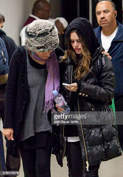 Rachel Bilson and her mother Janice Stango are seen at Los Angeles International Airport on January 09 2011 in Los Angeles California