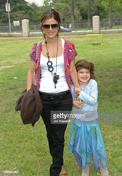 Rachel Bilson and her sister Hattie during 'A Time for Heroes' Carnival Hosted By Disney Arrivals at Wadsworth Theater in Westwood California United...