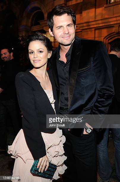 Rachel Bilson and Kristoffer Polaha attend the CW launch party presented by Bing at Warner Bros Studios on September 10 2011 in Burbank California