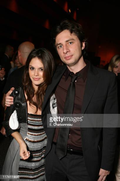 """Rachel Bilson and Zach Braff during Los Angeles Premiere of DreamWorks """"The Last Kiss"""" at Director's Guild of America in Los Angeles, CA, United..."""