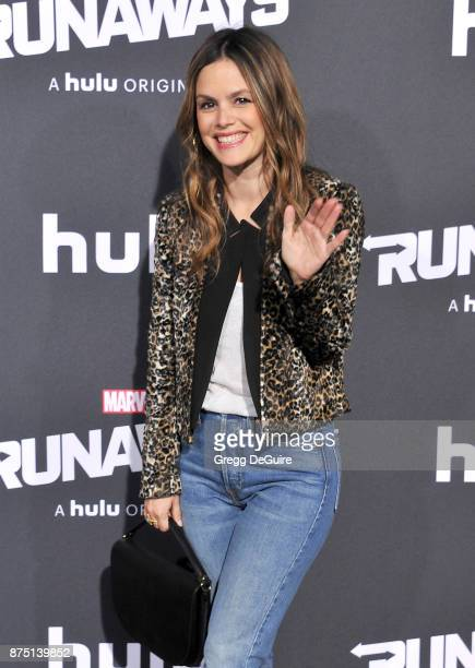 Rachel Bilson arrives at the premiere of Hulu's 'Marvel's Runaways' at Regency Bruin Theatre on November 16 2017 in Los Angeles California