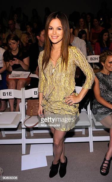 Rachel Bilson attends Brian Reyes Spring 2010 during MercedesBenz Fashion Week at Bryant Park on September 15 2009 in New York City