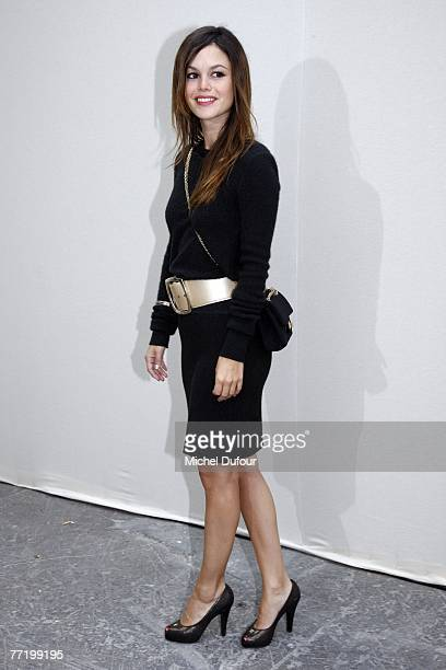 Rachel Bilson attends the Chanel fashion show during the Spring/Summer 2008 readytowear collection show at Grand Palais on October 5 2007 in Paris...