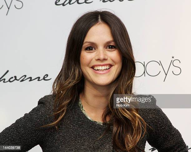 Rachel Bilson celebrates Edie Rose Home collection at Macy's Herald Square on May 8 2012 in New York City
