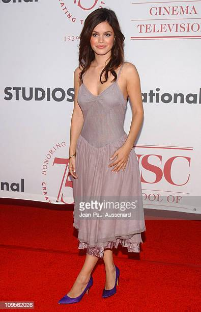 Rachel Bilson during 75th Diamond Jubilee Celebration for the USC School of Cinema Television Arrivals at USC's Bovard Auditorium in Los Angeles...